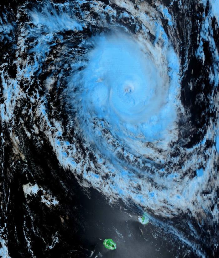 Cliquez sur l'image.CILIDA au nord des Iles Soeurs. Satellite: terra à 10h35.