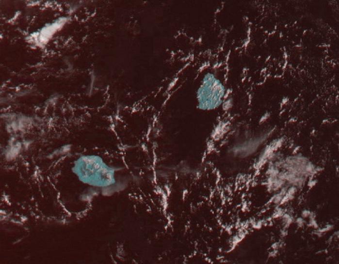 Le satellite Meteor a vu les Iles Soeurs ce matin à 08h31 quand le soleil était encore souverain quasiment partout. Réception Jacques Gentil/4Bornes, enhanced par moi.