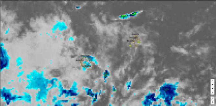 Météosat 20h. Les nuages plus actifs pourraient devenir plus nombreux dans les parages de la Réunion ces prochaines 48H.