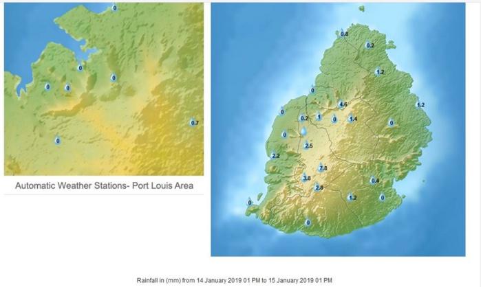 A 13h pluies en 24h à Maurice. MMS/Vacoas.