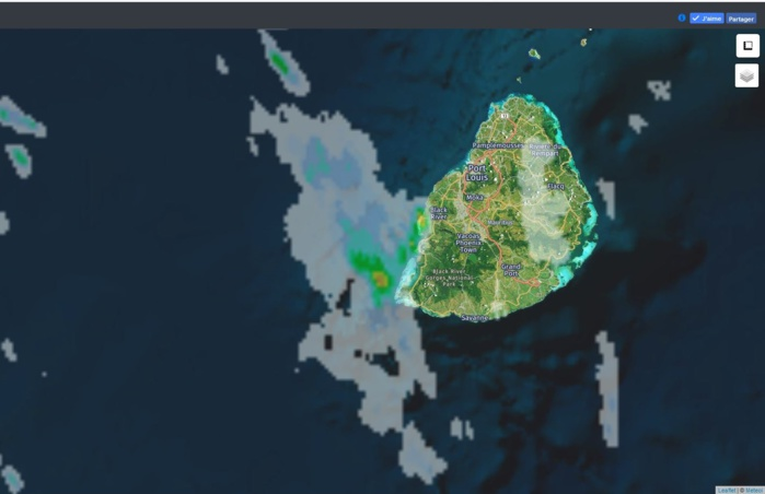 Radar MFR à 07h40. Crédit https://www.meteoi.re