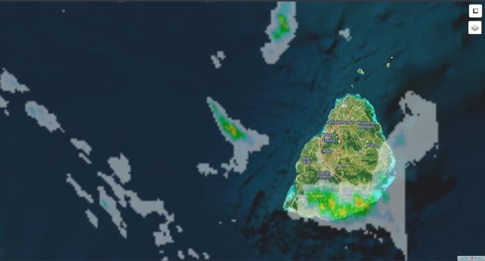 00h30: Radar Météo France Réunion. Crédit image: https://www.meteoi.re