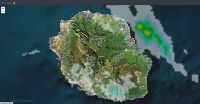 Radar Météo France Réunion. 00h50. Crédit image: https://www.meteoi.re/