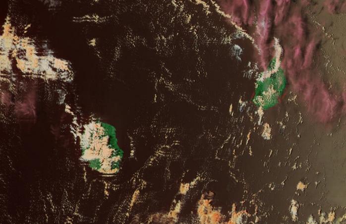Les Iles Soeurs capturées par le satellite NPP à 13h24.