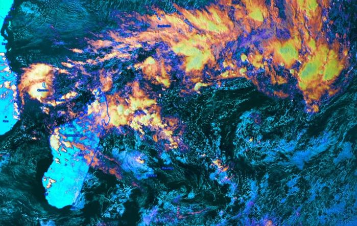 """Météosat à 16h. Crédit image Kobus que j'ai """"enhanced""""."""