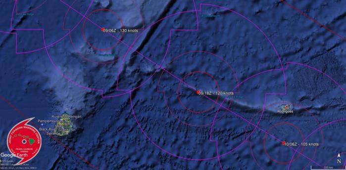JTWC: dernières prévisions de la Navy.