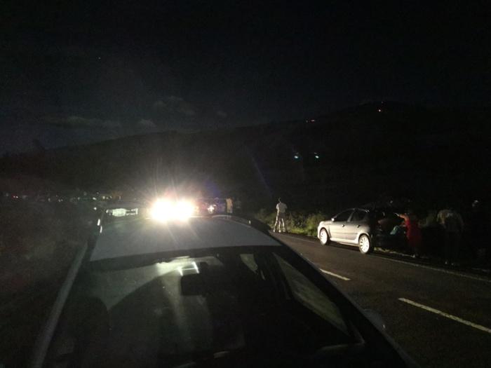 Piton de la fournaise: éruption terminée hier soir à 22h, j'ai vu du monde et la lave au loin, superbe ciel