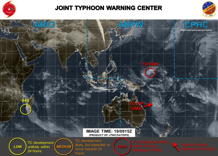 14h30: Point sur l'activité cyclonique en ce Mardi, temps perturbé sur l'ouest de Mada (VIDEO)