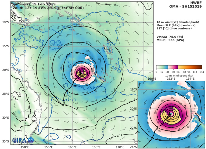 21UTC: cyclone OMA(15P) Category 1 US, no longer expected to intensify