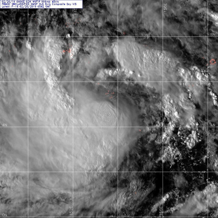 09UTC: WUTIP(02W) forecast to intensify rapidly to a CAT3 US in less than 3 days while approaching the Guam/Yap area