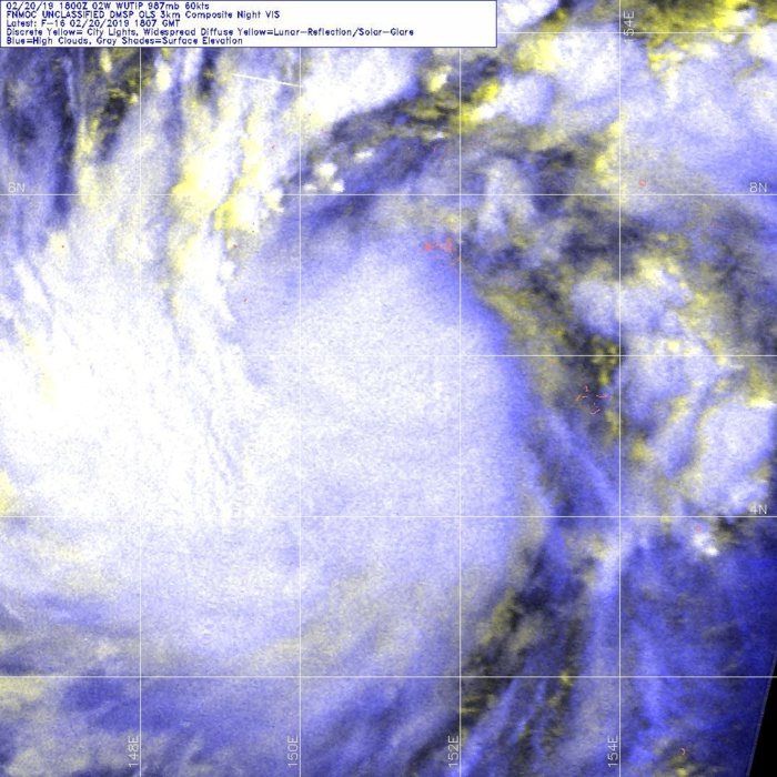 21UTC: WUTIP(02W) intensifying and forecast to reach CAT3 US in less than 2 days while approaching the Guam/Yap area