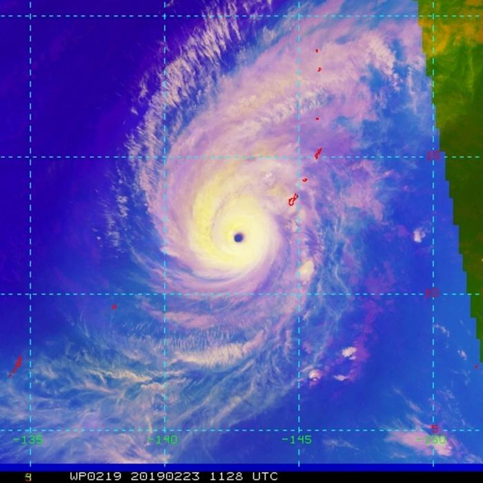 12UTC: WUTIP(02W) is now a Super Typhoon!