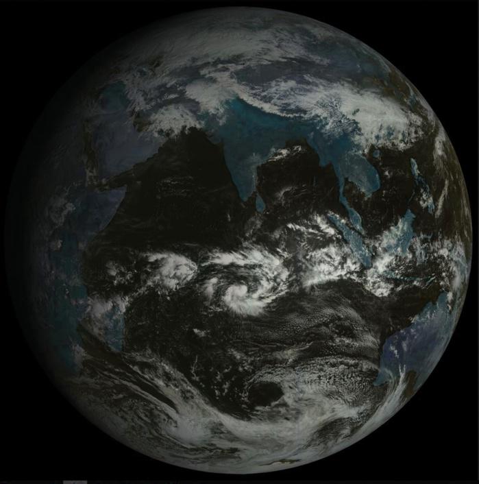 Océan Indien à 09h, globe du satellite géostationnaire russe.