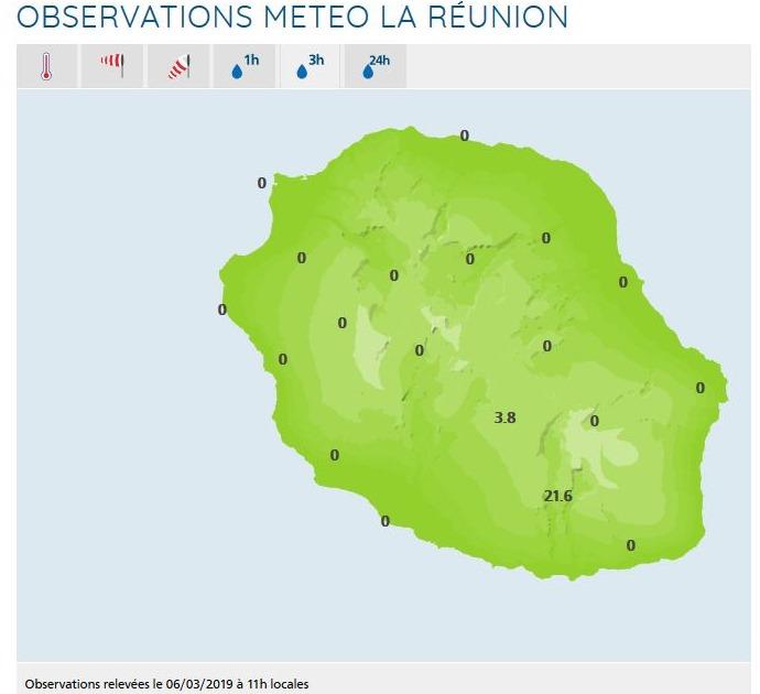 A 11heures la station Météo France de Grand Coude rapportait presque 22mm en 3heures et celle de Boug Murât presque 4mm. Enfin un peu de pluie après cette chaleur presque suffocante de ces derniers jours.