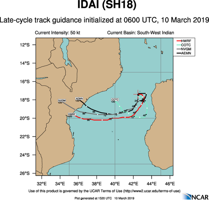15UTC:  IDAI(18S) is intensifying west of Madagascar, could be a powerful category 4 US in 3 days and approach Beira/Mozambique