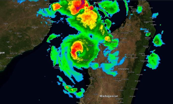Photo satellite de IDAI à 01h/Madagascar ce Lundi 11 Mars 2019.