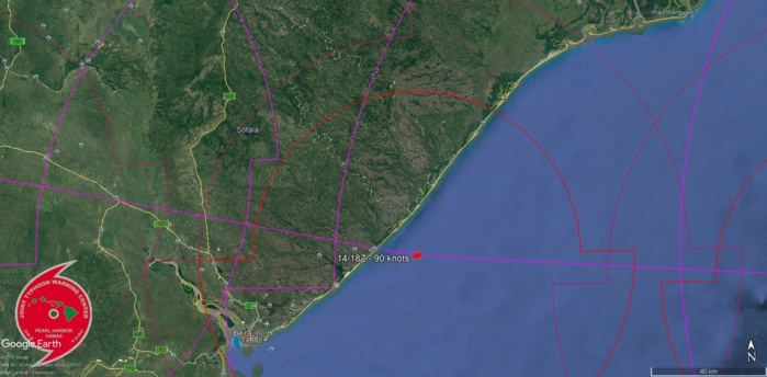 FORECAST LANDFALL AREA IN 36H