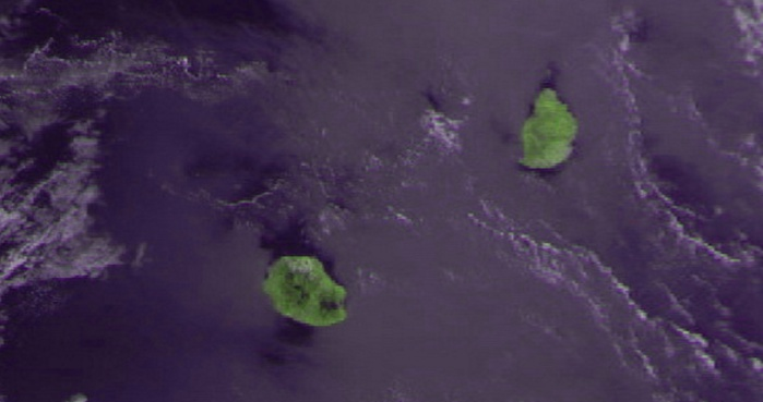 Le satellite Meteor M2 à 09h01 ce matin. Maufox.
