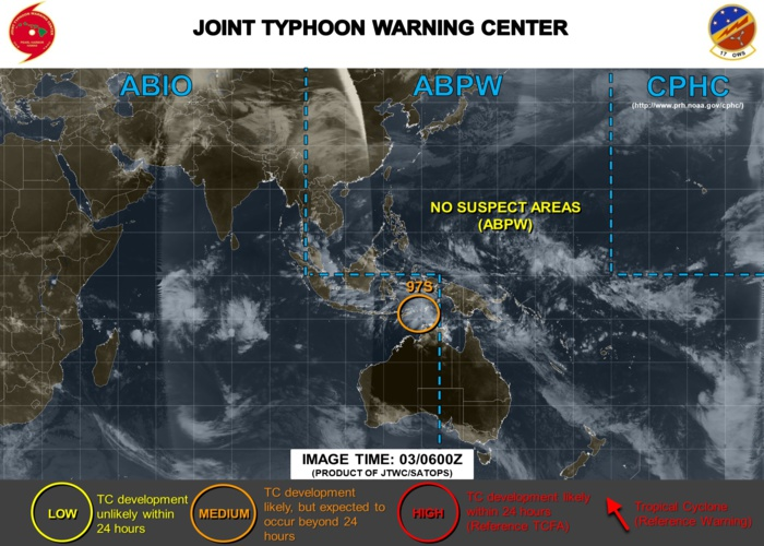 06UTC: South Indian: Invest 97S is now under watch