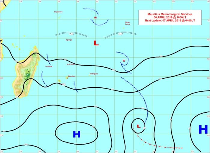 Carte établie par MMS à 16h ce jour: les vents modérés à assez forts d'est sud-est adoucissent les maximales qui sont plus raisonnables autour de 30/31°C sous abri.