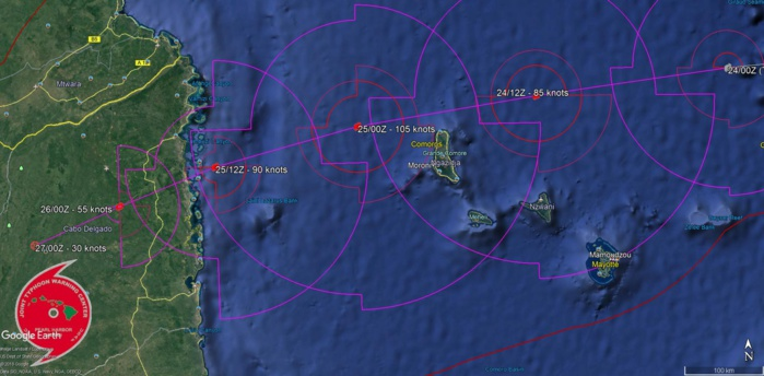 TC KENNETH(24S): FORECAST CLOSEST POINT OF APPROACH TO GRANDE COMORE