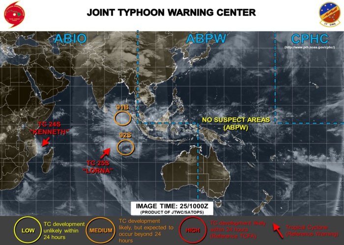 The Indian Ocean is active: 91B and 92S may develop within the next few days