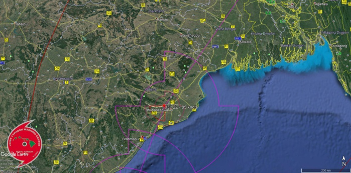 FORECAST APPROACH TO THE NORTHEAST COAST OF INDIA