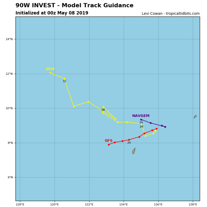 GUIDANCE(MODELS) FOR INVEST 90W