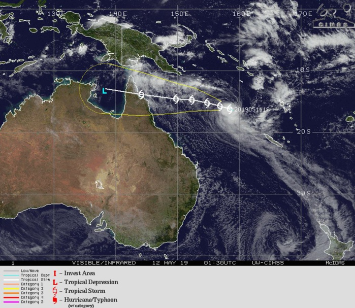 Coral Sea: TC ANN(27P): landfall over Cape York forecast shortly after 72hours