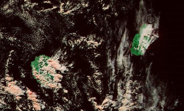 Les Iles Soeurs vues par le satellite Noaa20 à 14h06 cet après midi. 375m de résolution.