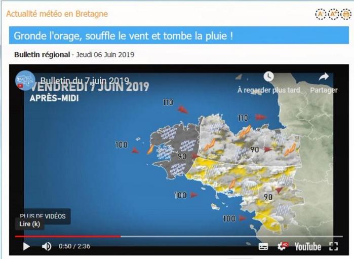 """Tempête """"MIGUEL"""": des rafales de 110km/h et de fortes pluies prévues pour la Bretagne"""