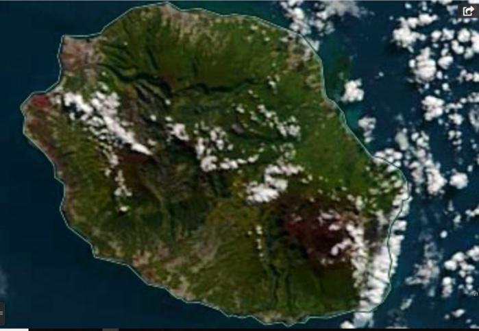 Le satellite Terra est passé au dessus de la REUNION ce matin à 10h30. Grand retour du soleil sur la moitié est. NASA US