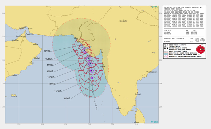 Arabian Sea: rapidly intensifying cyclone VAYU(02A) could reach category 2 US within 36hours