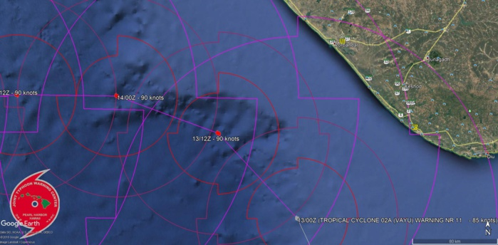 FORECAST TO TRACK MORE THAN 100KM TO THE WEST OF PORBANDAR