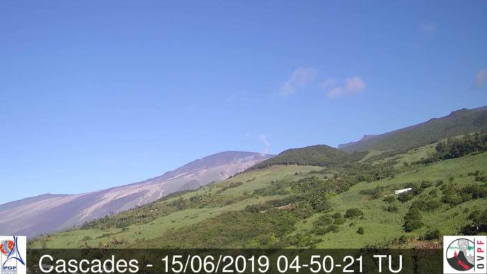 Même les pentes Est du volcan bénéficient d'un ciel dégagé. METEO REUNION
