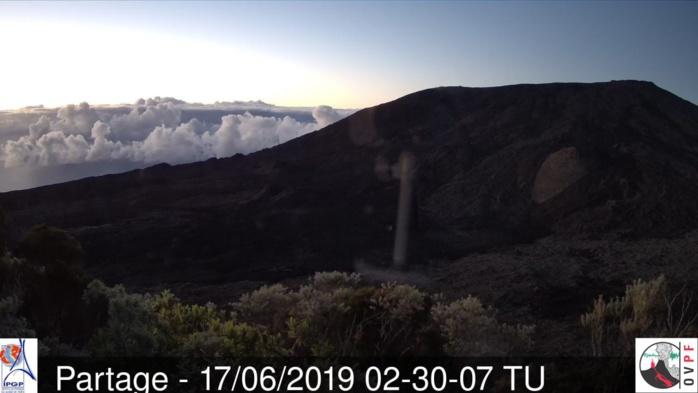 Emerveillement pour les yeux le matin au volcan. METEO REUNION