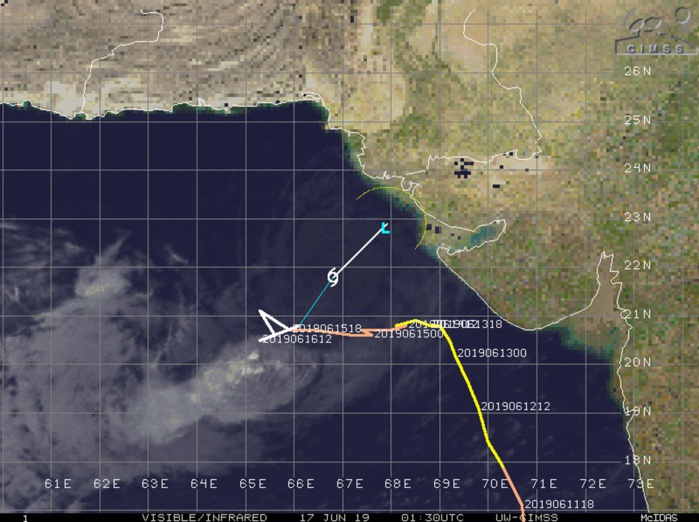 Cyclone VAYU(02A): Final Warning issued by the JTWC. Peak intensity was raised at 100knots, Category 3 US