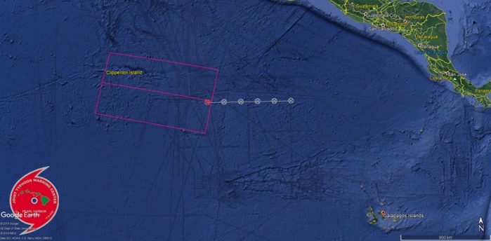 TCFA ISSUED: 750KM FROM CLIPPERTON ISLAND