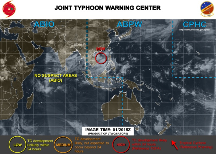 South China Sea: INVEST 96W is now upgraded to HIGH