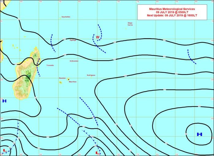 Analyse de la situation de surface ce matin. Les vents sont faibles sur les Iles Soeurs ce mardi. Les conditions changent pour la seconde partie de la semaine. MMS