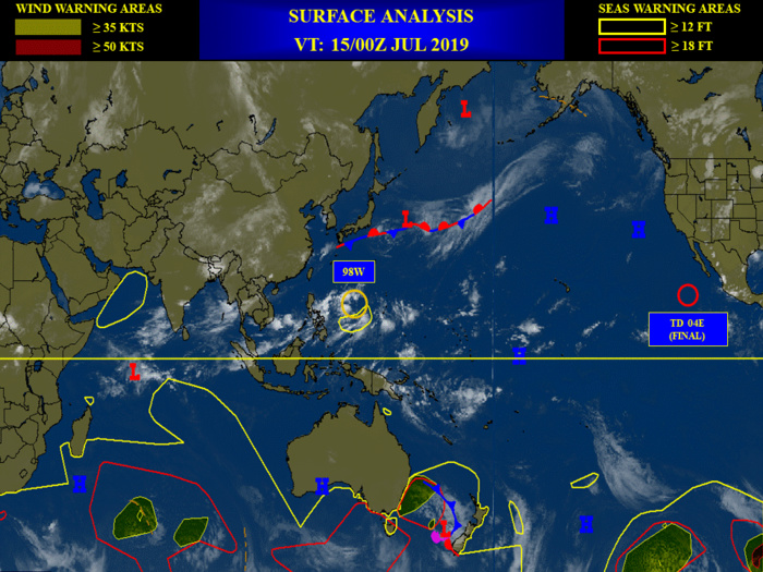 INVEST 98W: northwest track and gradual intensification possible next 24/48hours. Area now MEDIUM