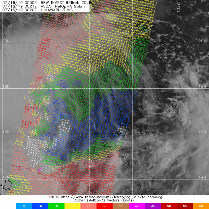 0021UTC. STRONG WINDS ARE FAR REMOVED FROM THE CENTER