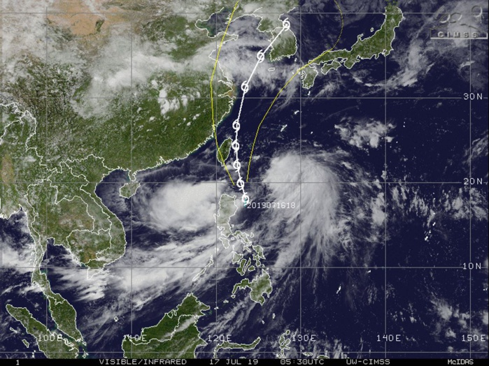 TS DANAS(06W) still poorly organized with a fully exposed center