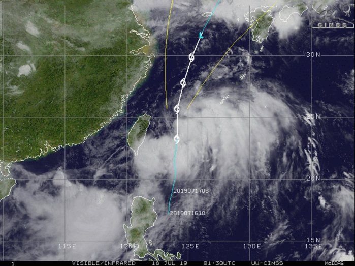WARNING 8/JTWC. PEAK INTENSITY OF 40KNOTS FORECAST WITHIN 24HOURS.