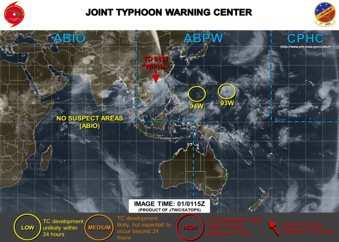 Western North Pacific: Invest 93W and Invest 94W under watch
