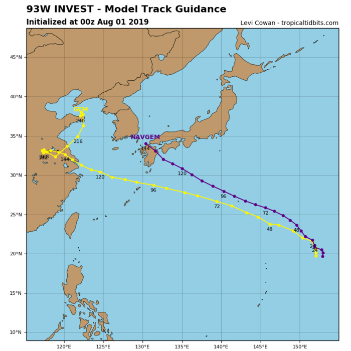 93W: TRACK AND INTENSITY GUIDANCE