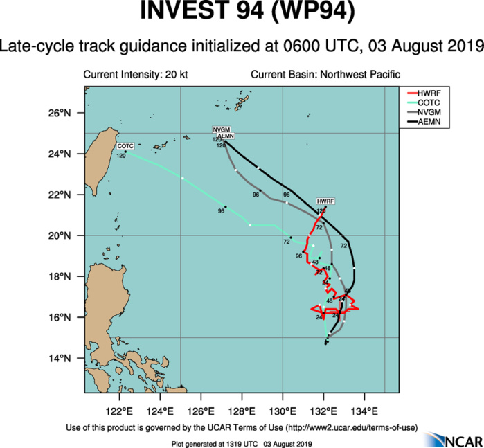 Invest 94W: Tropical Cyclone formation Alert issued