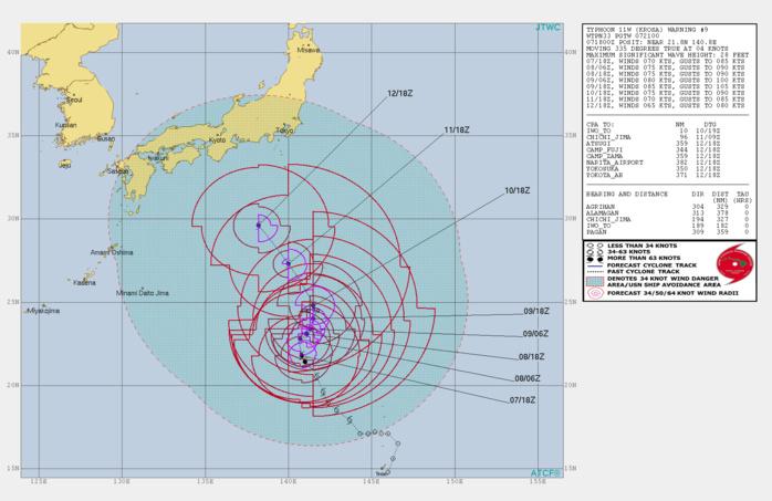 KROSA(11W): WARNING 9/JTWC. PEAK INTENSITY NEAR 85KNOTS FORECAST IN 48H