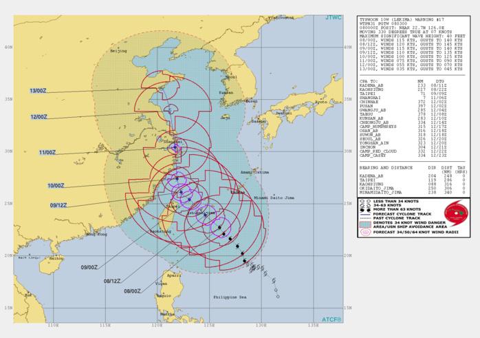 10W: WARNING 17/JTWC
