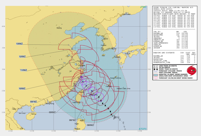 10W MAY TRACK CLOSE TO SHANGHAI IN APPROX 72H